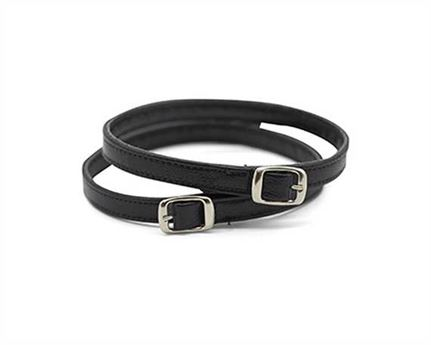 STRAP FOR SHOE BUCKLE NICKEL PLATE BLACK 10MM