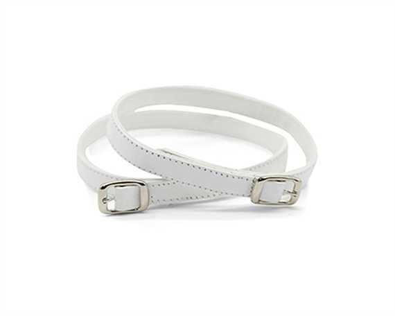 STRAP FOR SHOE BUCKLE NICKEL PLATE WHITE 10MM