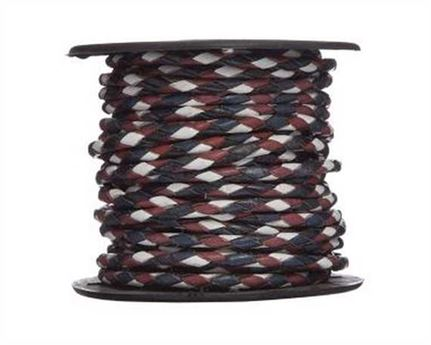 BOLO 3MM #694 RED, WHITE, NAVY BLUE 10M ROLL