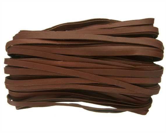 THONGING KANGAROO FLAT 6MM LACING BROWN (BRANDY) 23M HANK