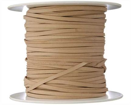 KANGAROO LACING FLAT 3MM NATURAL 100M ROLL AUSTRALIAN MADE