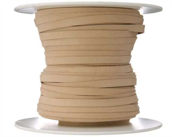 THONGING KANGAROO FLAT 4.7MM LACING NATURAL 50M ROLL