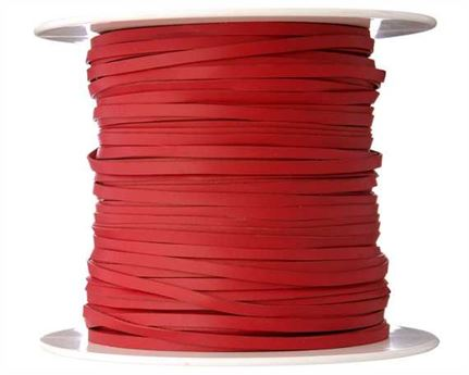 KANGAROO LACING FLAT 3MM RED 100M ROLL AUSTRALIAN MADE