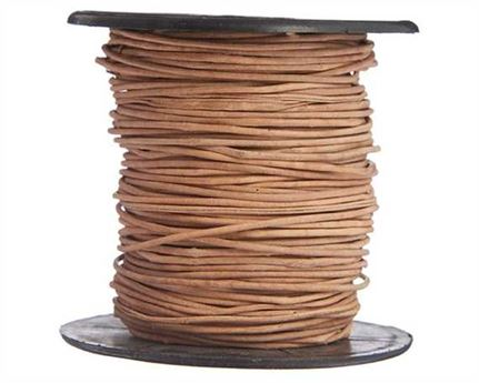 ROUND THONGING 0.5MM #001 NATURAL 25M SPOOL
