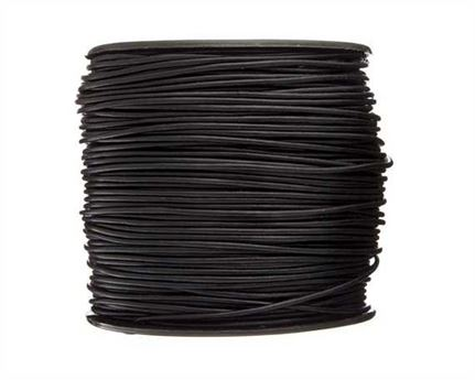ROUND THONGING 1.5MM #002 BLACK 100M SPOOL