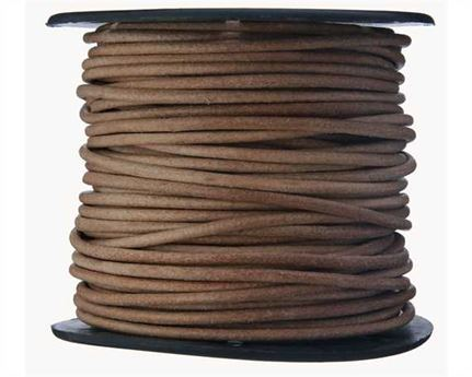 ROUND THONGING 2MM #001 NATURAL 25M SPOOL
