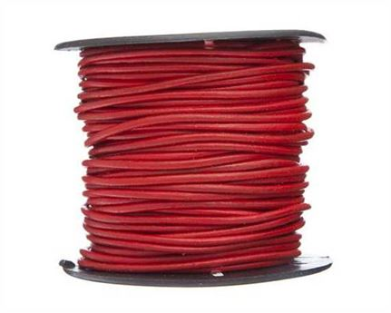 ROUND THONGING 2MM #005 RED 25M SPOOL