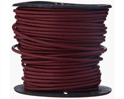 ROUND THONGING 2MM #009 CORIDA RED 25M SPOOL