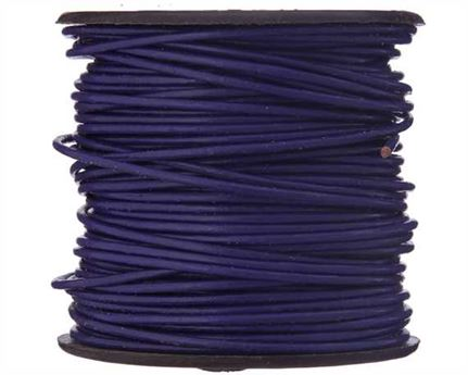 ROUND THONGING 1MM #011 VIOLET 25M SPOOL