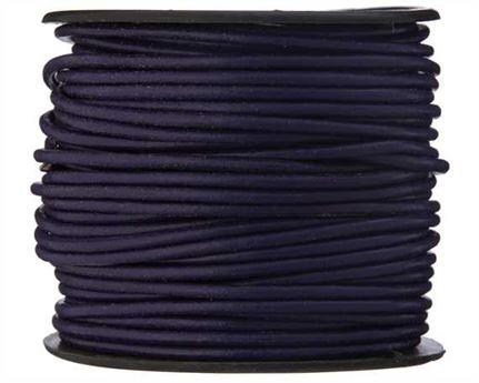 ROUND THONGING 2MM #011 VIOLET 25M SPOOL