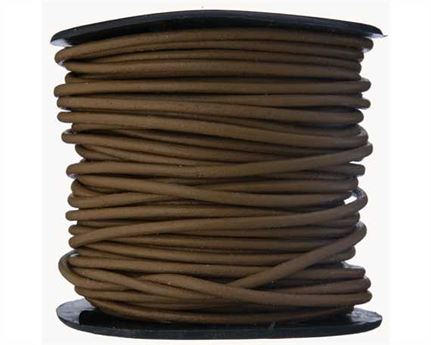 ROUND THONGING 2MM #013 LIGHT BROWN 25M SPOOL