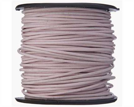 ROUND THONGING 1MM #029 LIGHT PINK 25M SPOOL