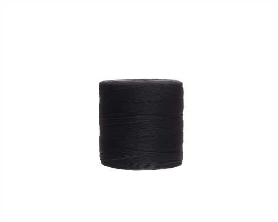 THREAD LINEN 7 CORD LOCKSTITCH BLACK #2 500GM SPOOL