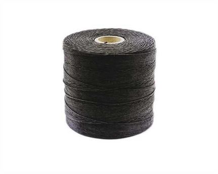 THREAD LINEN 8 CORD LOCKSTITCH BLACK #2 500GM SPOOL