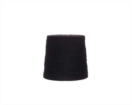 #2 LINEN LOCKSTITCH BLACK 6 CORD ON 500GM SPOOL