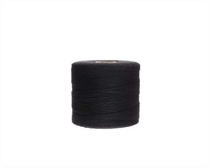 #2 LINEN LOCKSTITCH BLACK 7 CORD ON 500GM SPOOL