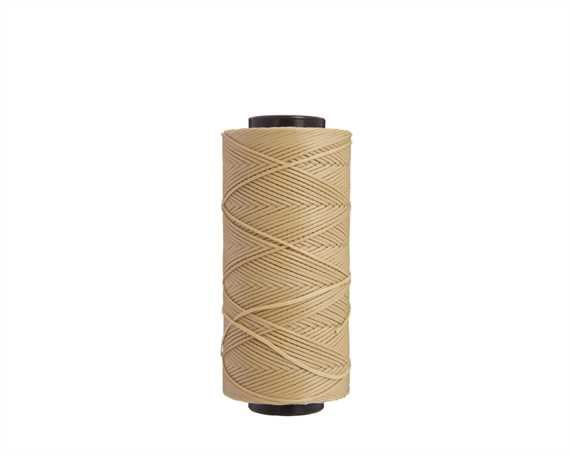 THREAD WAXED BRAIDED POLY 1MM BEIGE 100G SPOOL