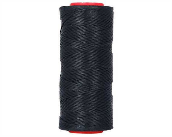 THREAD WAXED BRAIDED POLY 1MM NAVY BLUE 100G SPOOL