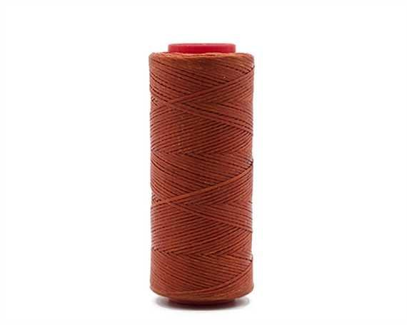 THREAD WAXED BRAIDED POLY 1MM ORANGE 100G SPOOL