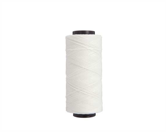 THREAD BRAIDED WAXED POLY 1MM WHITE 100G SPOOL