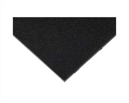 TOPY HEELING RUBBER SHEET HI-TOP BLACK 6MM (96 X 60CM)