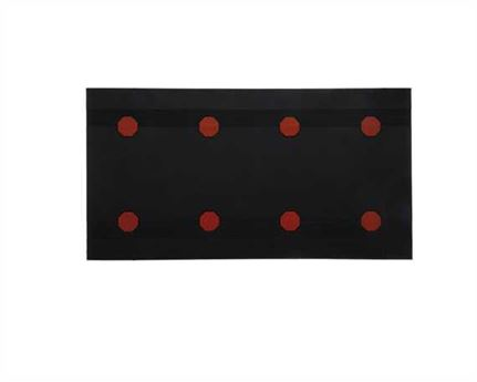 TOPY HEELING SHEET RED DOT (4PAIRS) 8MM BLACK