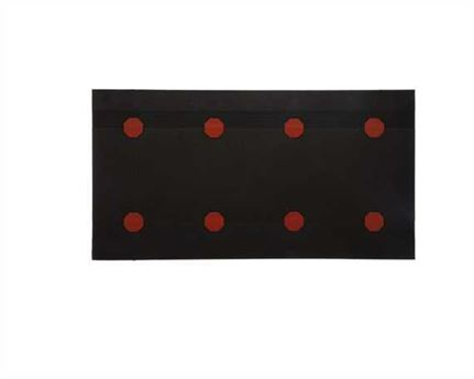 TOPY HEELING SHEET RED DOT (4PAIRS) 8MM BROWN