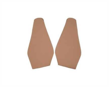 TOPY SOLING RUBBER AUSY 1.8MM (PR) CUT TO SIZE LADIES FASHION (POINTY) BEIGE