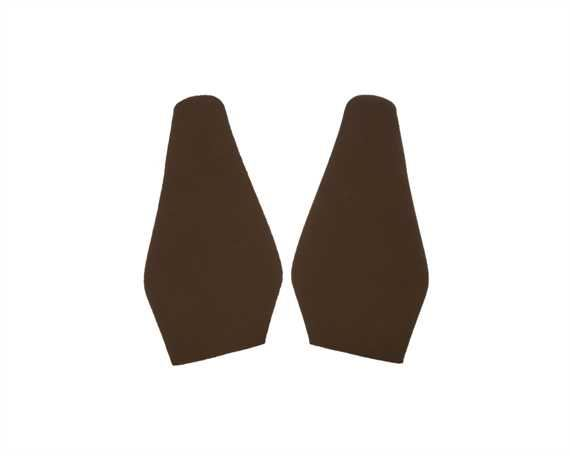 TOPY SOLING RUBBER AUSY 1.8MM (PR) CUT TO SIZE LADIES FASHION (POINTY) CARAMEL
