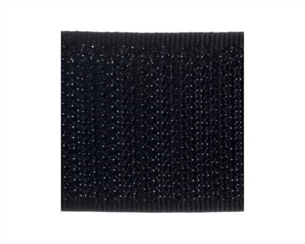 VELCRO® Brand 25MM HOOK SIDE OF SEW-ON TAPE BLACK