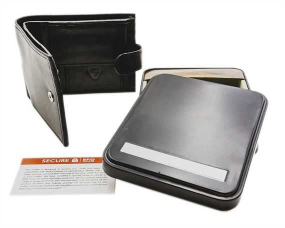WALLET NAPPA LEATHER 3 X C/C, COIN, CLIP, ZIP, BROWN RFID AND TIN