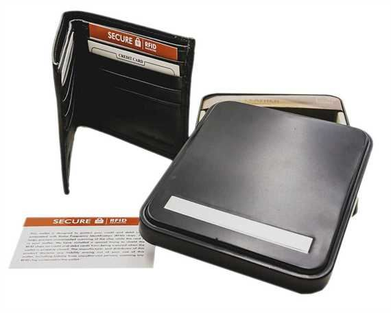 WALLET NAPPA LEATHER 8 X C/C, BLACK RFID AND TIN