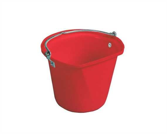 STUBBS FLAT SIDE HANGING BUCKET RED- 4 GALLONS/18 LITRES