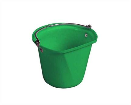 STUBBS FLAT SIDE HANGING BUCKET GREEN- 3 GALLONS /14 LITRES