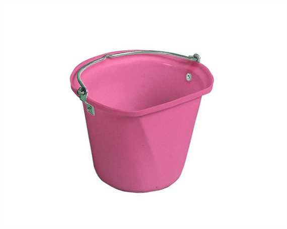 STUBBS FLAT SIDE HANGING BUCKET PINK- 3 GALLONS /14 LITRES