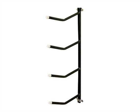 STUBBS REMOVABLE CLIP ON SADDLE RACK QUADRUPLE ARM BLACK