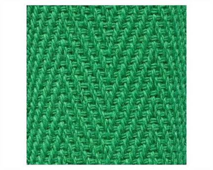 WEBBING BINDING COTTON (PER L/MTR) EMERALD 38MM