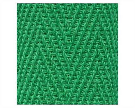 WEBBING BINDING COTTON (PER L/MTR) EMERALD GREEN G54 50MM