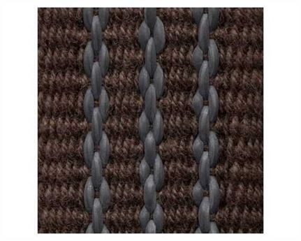 WEBBING COTTON STITCHED REIN (PER L/MTR) BROWN 25MM