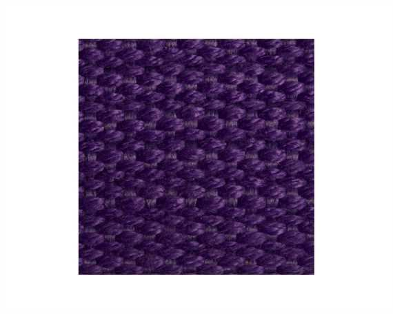 WEBBING SPUN POLYESTER RIBBED (PER L/MTR) PURPLE #208 25MM