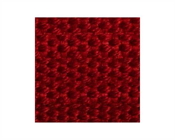 WEBBING SPUN POLYESTER RIBBED (PER L/MTR) RED #208 20MM
