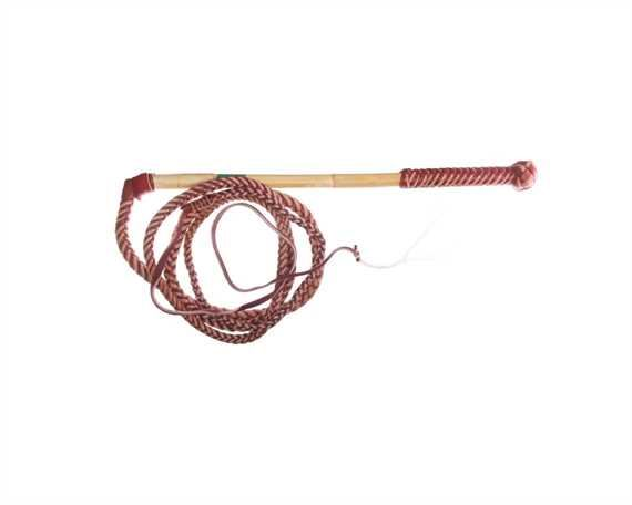 WHIP STOCK REDHIDE 8 FOOT 6 PLAIT