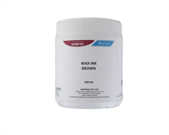 WAPROO WAX INK 500ML BROWN
