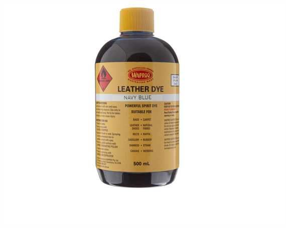 WAPROO LEATHER DYE NAVY 500ML