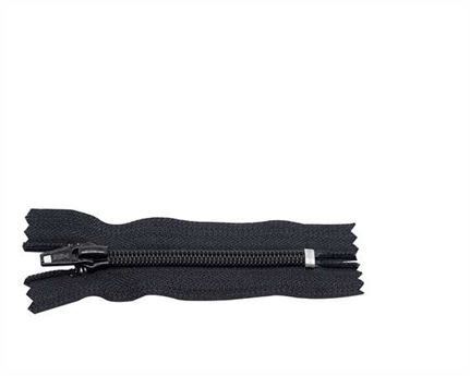 ZIP CLOSED END #5 NYLON COIL BLACK 18CM