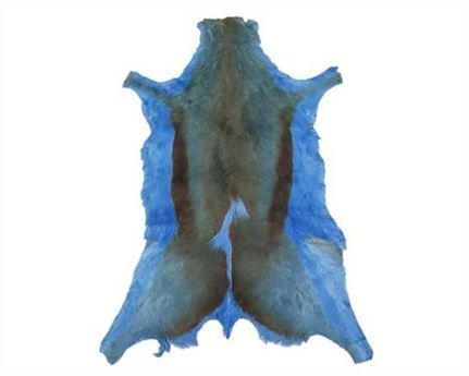 HAIR ON SPRINGBOK LIGHT BLUE DYED LARGE PER HIDE
