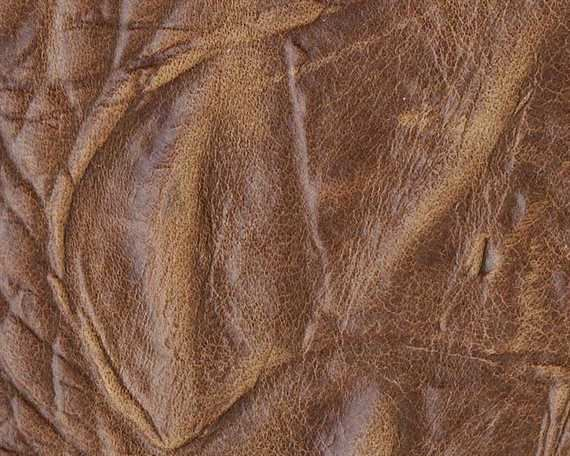 EUROLEDER KROKO PRINT ANILINE FULL COW HIDE UPHOLSTERY LEATHER 1.0/1.2MM TOBACCO
