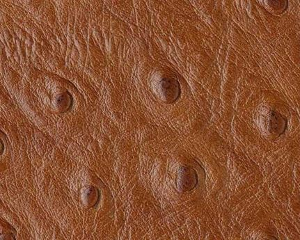 EUROLEDER OSTRICH PRINT COGNAC UPHOLSTERY LEATHER FULL COW HIDE
