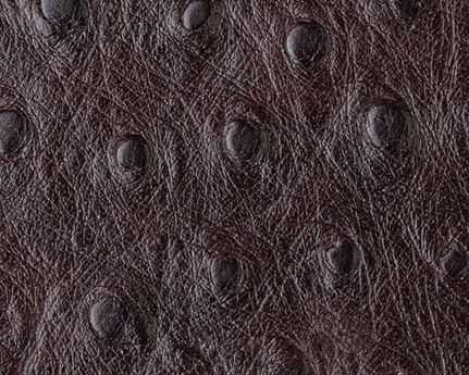 EUROLEDER OSTRICH PRINT MARRON UPHOLSTERY LEATHER FULL COW HIDE