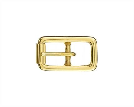 BUCKLE BRIDLE WITH ROLLER BRASS 12MM